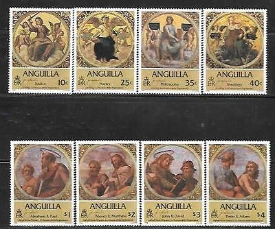 Anguilla 1984 Ceiling And Wall Frescoes Sc # 569-576 Mnh