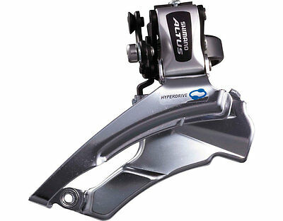 New Shimano Altus Front Derailleur 31.8 34.9 Top Clamp Dual Pull 3x7/8 Speed