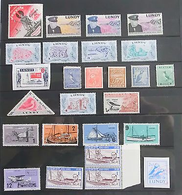 Lundy  Postal History +26 Various  Stamps