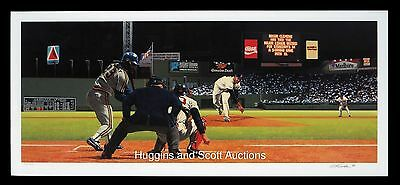 Roger Clemens Autographed Lithograph Mint Boston Red Sox Bill Purdom Cy Young