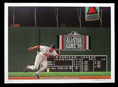 Nomar Garciaparra Autographed Lithograph Mint Boston Red Sox 1999 All Star Game