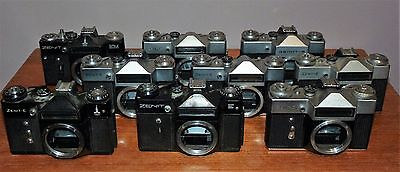Job Lot / Collection Of Vintage Slr Camera Bodies - Spares Repair Or Upcycle