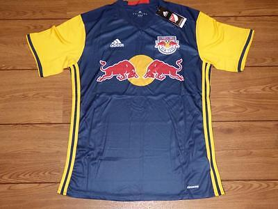 New York Red Bulls 2016-2017 football shirt jersey by adidas MLS. Size Large