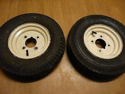 """2x Trailer Wheels and Tyres 480/400 x8"""" 4""""."""