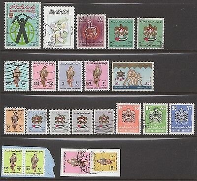 UAE used stamp selection, card not included.