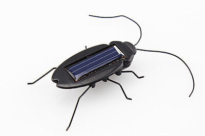 Economic Solar Powered Energy Cockroach Gadget Bug Toy Children Kids Gift ab
