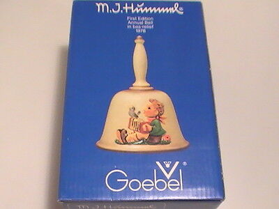 MJ Hummel Bell ~ Goebel First Edition Annual Bell 1978 New in Box MINT