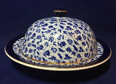 Antique Vintage Grimwades 1930's Blue & White Muffin Dish Early Chintz