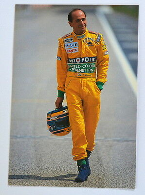 Benetton Ford official card with Roberto Moreno printed autograph