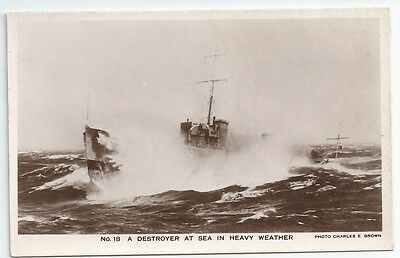 HMS STURDY S-class Destroyer Royal Navy Unused Real Photo Postcard