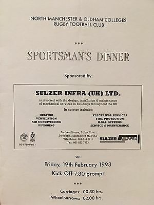 Manchester City. Fred Eyre Signed Menu