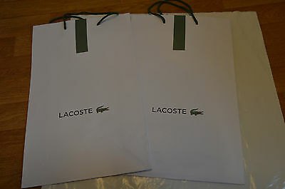 2x Lacoste paper carrier / gift bag