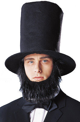 Abraham Lincoln Hat with Beard Halloween Costume Accessory