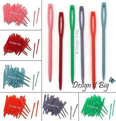 Plastic Sewing Needles for Childrens Wool Cross Stitch Knitting or Crochet 7cm
