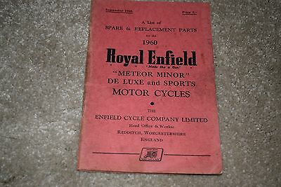 Royal Enfield Meteor Minor spare & replacement parts book 1960