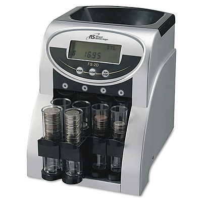Coin Change Sorter Money Counter Sort Count Wrapper Electronic Digital Machine