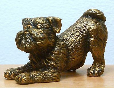 Hand Made Collectable Miniature Pewter Brussels Griffon Dog Figurine