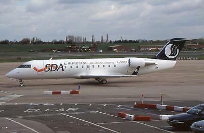 Original 35mm Aircraft Slide Shandong Airlines Canadair CRJ-200ER B-3007 BHX4/01