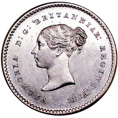 Victoria. Maundy twopence. 1844.   Brilliant uncirculated..  6323.