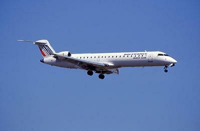 Original 35mm Aircraft Slide Air France Brit Air Canadair CRJ-701 F-GRZE 2003