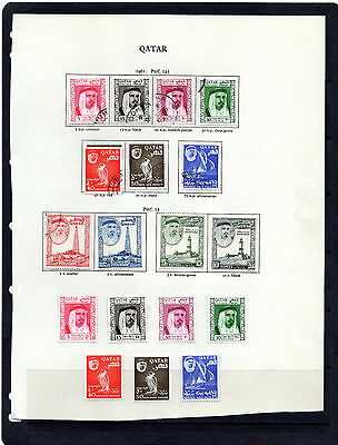 QATAR1961 issues to 10 Rs. on New age page, MINT & Fine Used