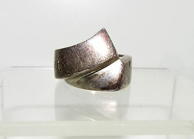 Taxco Mexico Sterling Silver Ring_Marked_Ribbon_Size 7_14 Grams