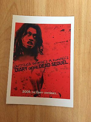 """""""diary Of The Dead"""" Postcards X  6 Different Artwork"""