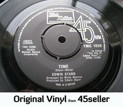 ♚ Edwin Starr 'TIME / Running Back & Forth' 2 in demanders Northern Soul 45 HEAR