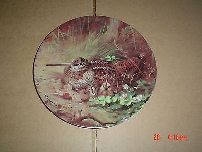 Bradford Exchange Collectors Plate WOODCOCK ON THE FORESTS EDGE