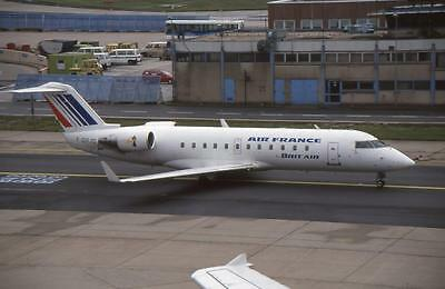 Original 35mm Aircraft Slide Air France Brit Air Canadair CRJ-100 F-GRJG FRA '00