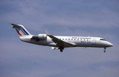 Original 35mm Aircraft Slide Air France Brit Air Canadair CRJ-100ER F-GRJN 7/99