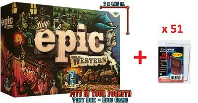 Tiny Epic Western (Kickstarter Deluxe Edition) + 51 card sleeves