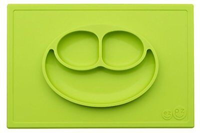 Ezpz Happy Mat - One-Piece Silicone Place-Mat+ Plate (Lime)