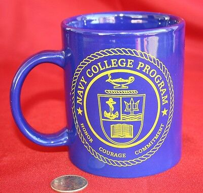 Navy College Program Coffee Cup Mug - Honor Courage Commitment -