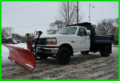 1994 Ford F-Super Duty XL Dump truck with Snow plow! NO RESERVE