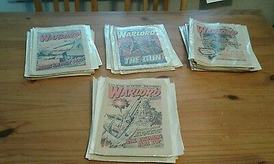 Large bundle of over 40 warlord comics,near full year ,1978-79,mostly bagged