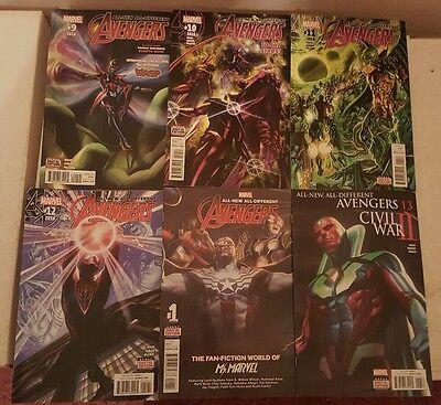 All New All Different Avengers 9-13 & Annual 1 set