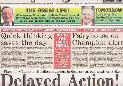 The Sporting Life Newspaper - Friday January 27, 1995