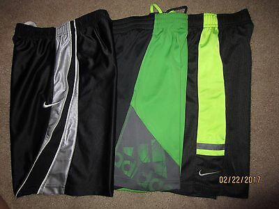 3 Pairs Lot Of Sz S Small (8-9) Boys Nike Dri Fit Adidas Basketball Shorts Elite