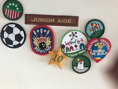 Lot of 4 Girl Scout Patches