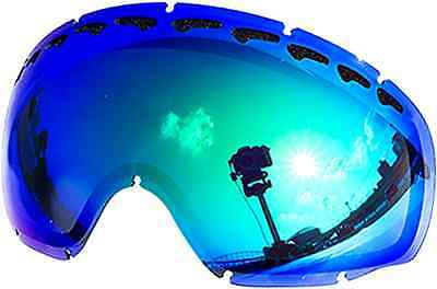 oakley zero replacement lenses ax19  Zero Replacement Lenses For Oakley Crowbar Snow Goggle Green Mirror