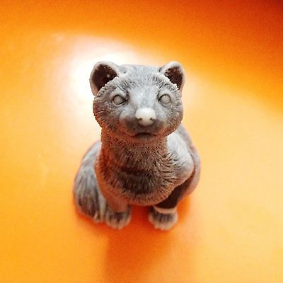 Ferret figurine marble chips miniature  Souvenirs from Russia