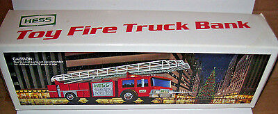 Hess Oil Gas Toy Fire Truck Bank