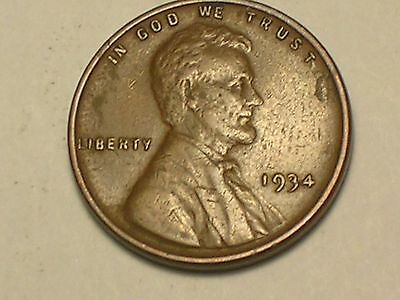 1934-P   Lincoln Wheat Penny Cent, ( Very Nice Coin)