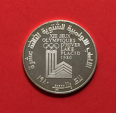 Lebanon ,10 Livres Silver Proof Coin,winter Olympic 1980..high grade condition