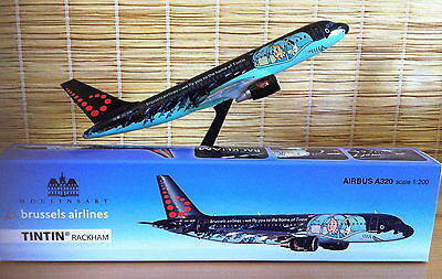 ** Herge ** Avion Tintin Airbus A320 Rackham ** Brussels Airlines ** 1:200