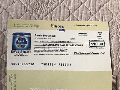 1 Enfamil Coupon for $10