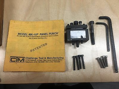 Challenge Tool & Mfgt. MK-15P Panel Punch w/ extras!