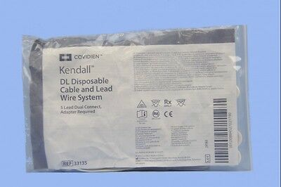 Covidien Kendall DL Disposable Cable and Lead Wire System 33135 ~ Case of 50