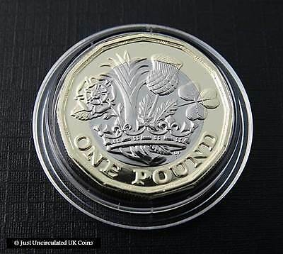 2017 £1 Coin - 12 Sided Brilliant Uncirculated One Pound Coin - Royal Mint